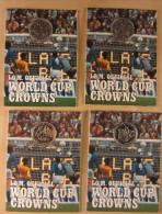 """17018 - TX - 4 Sets De Pièces """"World Cup Crowns"""" - Fleurs De Coins. - Autres Monnaies"""
