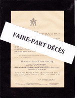 Faire-part Décès M. Jules César FAURE, Général De Division En Retraite, 1895 - Esquela