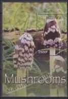 Burundi 2004 Miniature Sheet Yvert BF 139, Flora, Mushrooms - MNH