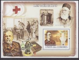 Comores - Comoros 2009 Miniature Sheet BF Yvert 144, Medicine, Red Cross, Jean Henri Dunant - MNH - Comores (1975-...)