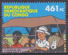 Congo Democratic Republic 2001 Tintin From Miniature Sheet, MNH - República Democrática Del Congo (1997 - ...)