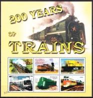 Ghana 2005 Yvert 3058-63, Trains (III), 200 Years Of Trains - MNH - Ghana (1957-...)