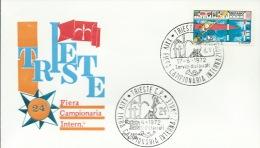 TRIESTE-24^ FIERA CAMPIONARIA INTERNAZIONALE-  17-6-1972 - Francobolli