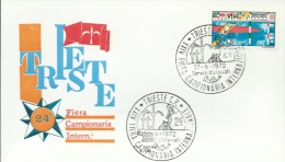 TRIESTE-24^ FIERA CAMPIONARIA INTERNAZIONALE-  17-6-1972 - Timbres