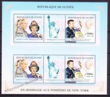 Guinée Republique - Guinea 2002 Yvert 2151-52, Tribute To New York Firemen - MNH - Guinée (1958-...)