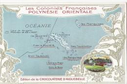 France - Polynésie - Carte Publicité - Géographie Polynésie - Polynésie Française