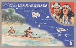 France - Polynésie Française - Illustration Publicité Géographie - Marquises - Polynésie Française