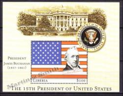 Liberia 2000 Yvert BF 319, President United States, James Buchanan, Miniature Sheet, MNH - Liberia