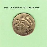 PERU    25  CENTAVOS  1971   (KM # 259) - Peru