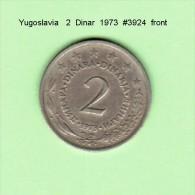 YUGOSLAVIA    2  DINAR  1973   (KM # 57) - Yugoslavia