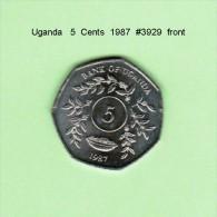 UGANDA   5  CENTS   1987   (KM # 29) - Uganda