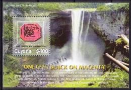 Guyana 2006 Yvert BF 495, 1 Cent Magenta 150th Ann., Miniature Sheet, MNH - Guyana (1966-...)