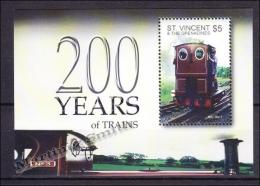 San Vicente - Saint Vincent 2004 Yvert BF 591, Train (II) - MNH - St.Vincent (1979-...)