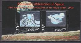 Bhutan - Bhoutan 1994 Miniature Sheet Yvert BF 336, 25th Ann. First Man On The Moon - MNH - Bhoutan