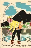 CP  -  Humour  -  Illustration  Bernard Aldebert -   Pêcheur - Pourvu Que Je L'amène Jusqu'au Bord ! - Humour