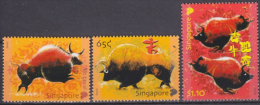 Singapour - Singapore 2009 Yvert 1681-83, Chinese Lunar New Year, Ox - MNH - Singapore (1959-...)