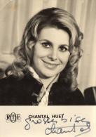 Autographe Sur Carte Postale Chantal HUET ORTF - Autographes