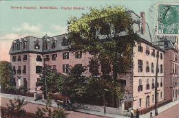 22714 CANADA - Quebec MONTREAL  Hopital Général  Hospital -european Post Card 2027 -
