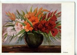 ART517 - GLAIEULS - D'après Un Original Peint Sans Mains De Daisy - Peintures & Tableaux