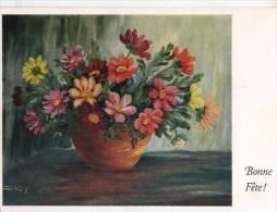 ART519 - FLEURS - Peint Sans Mains Par Daisy - Malerei & Gemälde