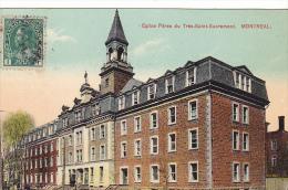 22717 CANADA - Quebec MONTREAL  Eglise Pères Du Très-Saint-Sacrement  -european Post Card Sans N° -