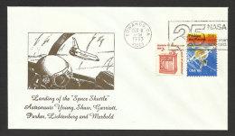 Etats Unis Lettre Commemoratif Atterrissage Du Space Shuttle Espace 1983 US Event Cover Space Shuttle Landing Space - Covers & Documents