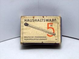 Scatola Di Fiammiferi HAUSHALTSWARE GERMANIA Vuoto - Scatole Di Fiammiferi