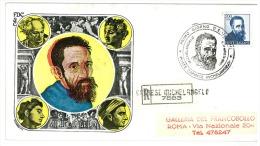MICHELANGELO BUONARROTI - CAPRESE MICHELANGELO SOLO 200 LIRE - RACCOMANDATA  VIAGGIATA - ANNO 1961 - FDC - FDC