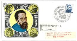 MICHELANGELO BUONARROTI - CAPRESE MICHELANGELO SOLO 200 LIRE - RACCOMANDATA  VIAGGIATA - ANNO 1961 - FDC - 6. 1946-.. Republik