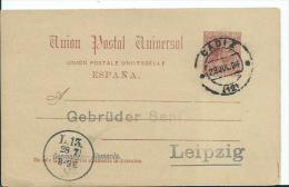 ESPAÑA SPAIN -ENTEROS POSTALES- EDIFIL Nº 21  O-MATASELLADO - 1850-1931