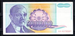 YOUGOSLAVIE 1993 500.000.000 DINARA.TRES BEAU.VOIR PHOTO.B 385 - Yugoslavia