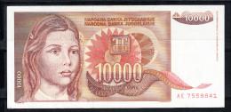 YOUGOSLAVIE 1992  10.000  DINARA.TRES BEAU.VOIR PHOTO.B 392 - Yugoslavia