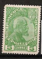 Liechtenstein. 1912. N° 1 Ou 1a. Neuf * MH - Unused Stamps