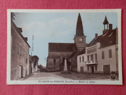 Dep 71 , Cpa St LEGER Sur DHEUNE , Mairie Et Eglise (51)Recto/Verso - Frankrijk