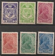 Liechtenstein. 1917. N° 4-9. Neuf * MH - Unused Stamps