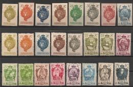 Liechtenstein. 1920. N° 17-42. + Taxe N° 1-12. Neuf * MH - Unused Stamps