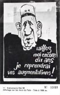 75 PARIS EVENEMENTS MAI 68 AFFICHAGE SUR LES MURS DE PARIS / DE GAULLE - France