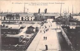 44 SAINT NAZAIRE AGENCE ET MAGASINS DE LA COMPAGNIE GENERALE TRANSATLANTIQUE / VUE PRISE DE L HOTEL DES COLONIES - Saint Nazaire