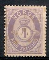 Norvège Norge. 1871 . N° 19. Neuf * MH - Oblitérés