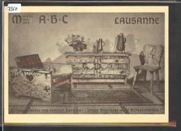 FORMAT 10x15 - LAUSANNE - PUBLICITE MEUBLES ABC - TB - VD Vaud