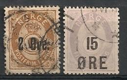 Norvège Norge. 1883-1905. N° 45,58. Oblit. - Norvegia