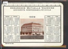 FORMAT 10x15 - LAUSANNE - BUVARD DE L´ASSURANCE MUTUELLE VAUDOISE 1939 - TB - Blotters