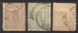 Pays-Bas. Nederland. 1864. N° 13,15,17. Oblit. Pliures - Gebruikt