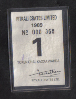 MALTA - RARE  PITKALI CRATES LIMITED TOKEN - 1989 - Unclassified