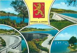 CPM - 12 - BARRAGES Du LEVEZOU - France