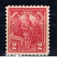 US 1927 Mi 307 Mnh Vermont - Unused Stamps