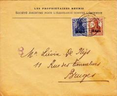 Gent Naar Brugge, Brandverzekering La Gantoise, 1918 - Guerre 14-18