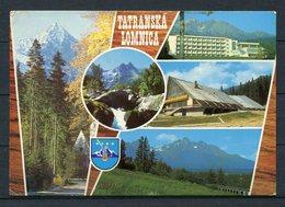 CSSR / Hohe Tatra / Tatranská Lomnica (deutsch: Tatralomnitz) / Mehrbildkarte M. Wappen - Gel. 1977 - Slowakei