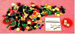 über 200 Teile Klassik-Spiele-Zubehör , 110 Kunststoff-Figuren , 6 Würfel - Gesellschaftsspiele