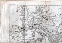 CARTINA -IMPERO ROMANO-STAMPA INCISIONE ´800-CARTINA GEOGRAFICA - Mappe
